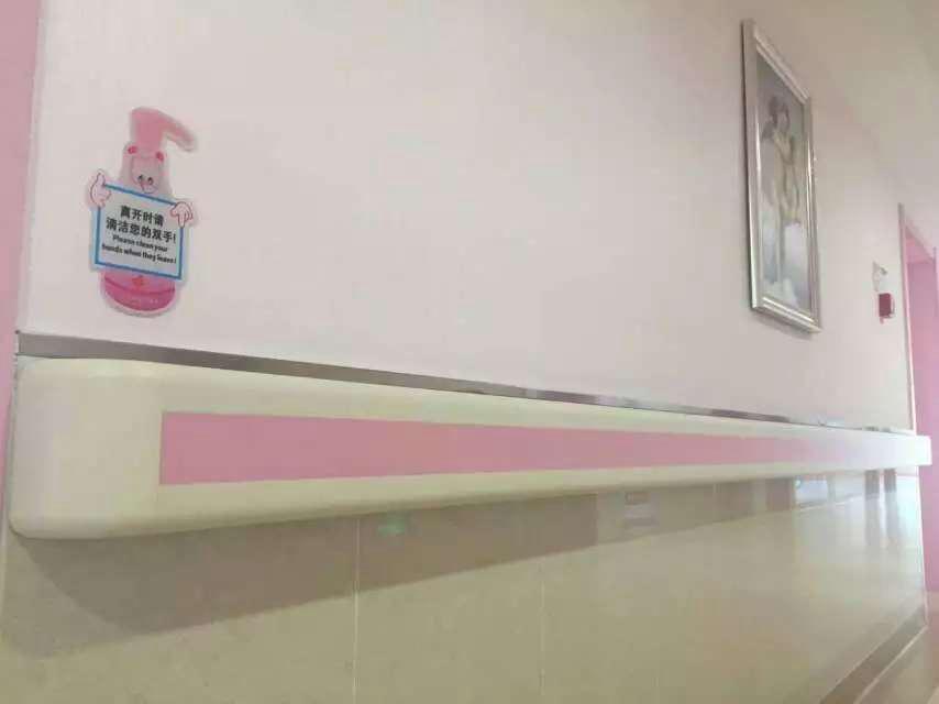 【湖北】恩施亚菲亚妇产医院安装品通防撞扶手、输液架系列产品,很美丽很温馨