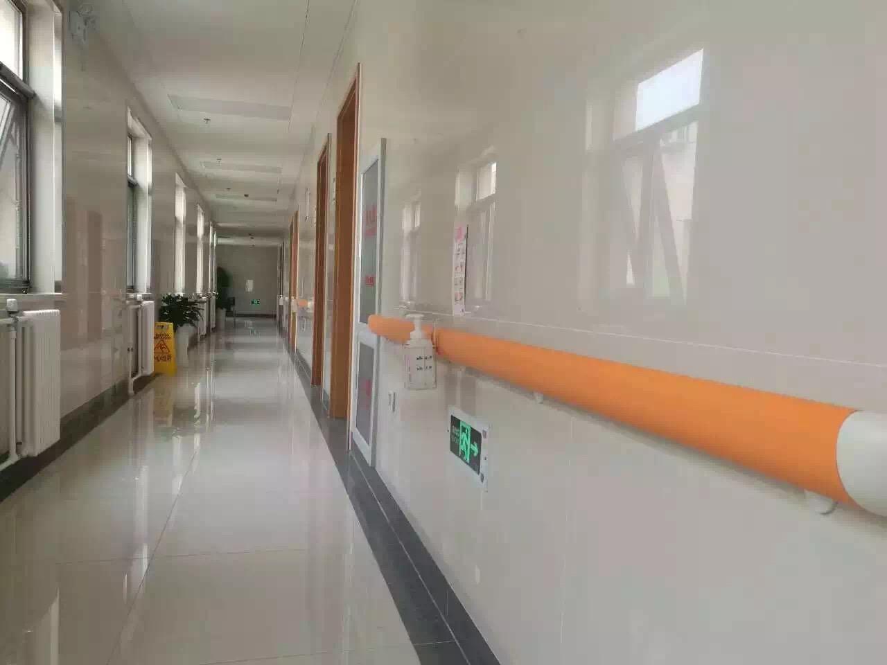 【江苏项目】幸福养老院安装2款蓝品盾家的防撞扶手