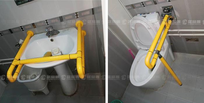 【上海】家庭用户安装多款卫生间扶手,给老人全方位的保护