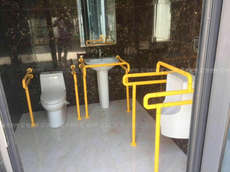 【西安市】经开区新建的公厕里安装的是什么样的扶手?