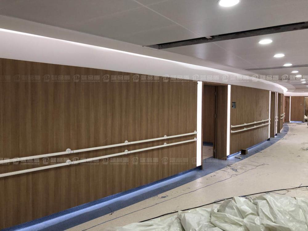 【广州】解放军458医院里的蓝品盾产品安装现场效果图