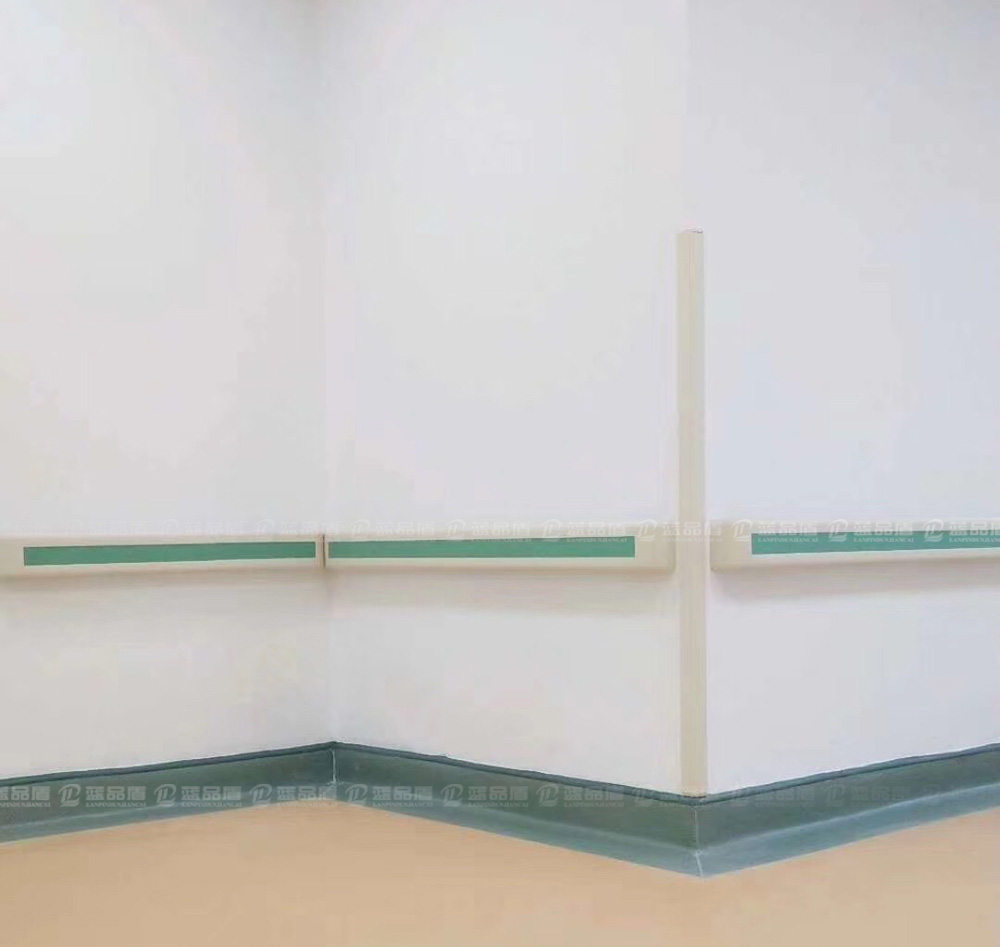 【广州】南沙区第二人民医院走廊里的PVC防撞扶手