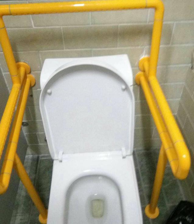 【河南】信阳新县妇幼保健院 | 定制款式的残疾人无障碍扶手实例图