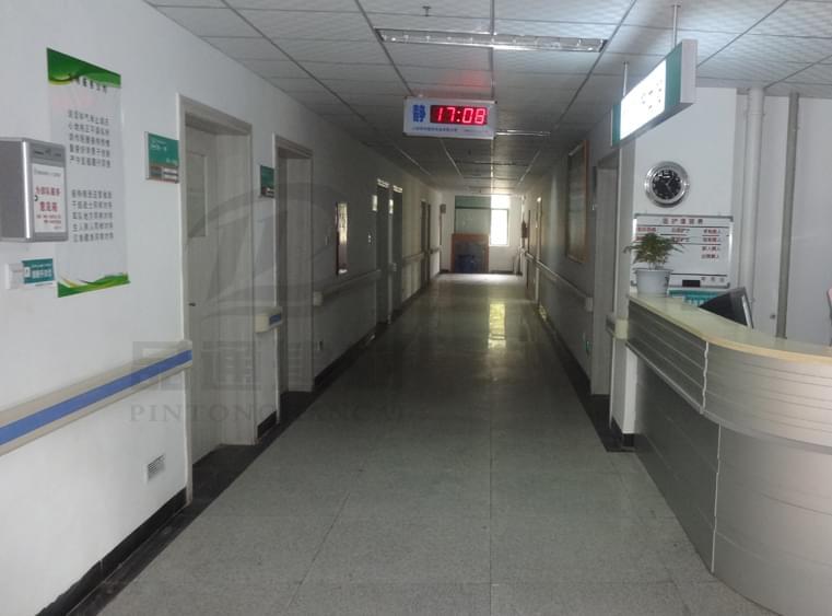 【山西】晋中平遥医院走廊扶手,颜色亮丽外观简洁漂亮