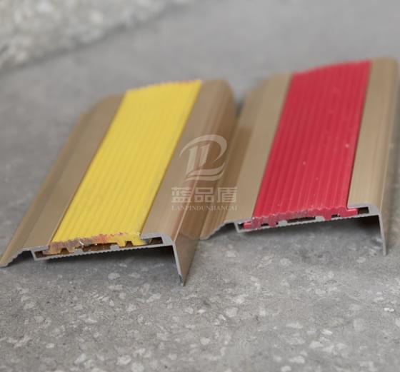 楼梯台阶铝合金加软橡胶耐磨防滑条